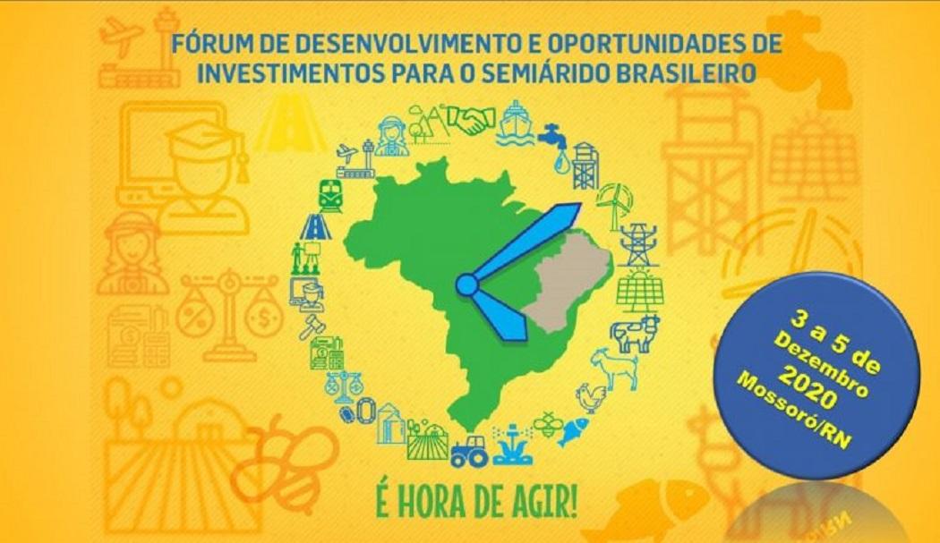 Fórum de Desenvolvimento do Semiárido 2020 acontecerá entre 3 e 5 de dezembro